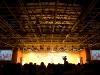 Changle, Shandong, China. Escenario del concierto de una maestra en mi escuela.