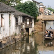 Suzhou, water way, river, channel and boat
