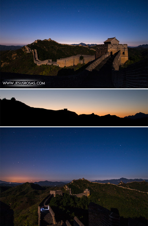 These other pictures are from a different section of the Great Wall called Jinshanling. I liked this section better than the other ones because of the views. I arrived right after the sunset and I was able to take some pictures at dusk.