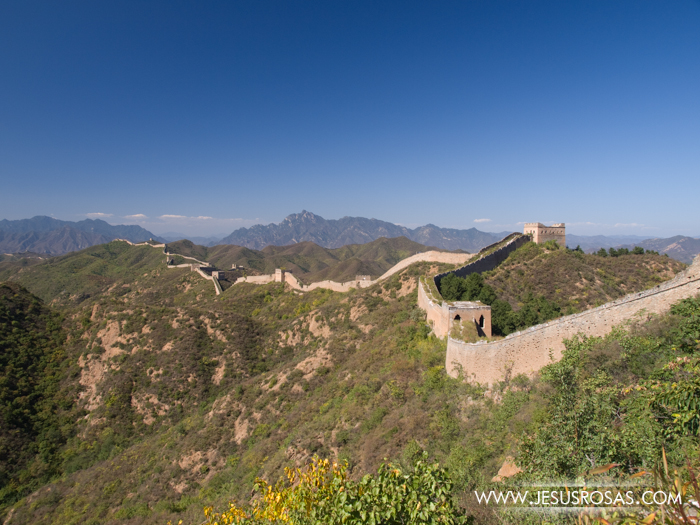 And this was the end of the allowed area. That part of the Great Wall was closed to the public.
