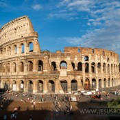 Roman Colosseum on a sunny day by Jesús Rosas