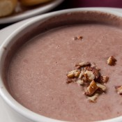 La Cocinita de San Juan restaurant showing pecans and rose petals soup photographed by Jesús Rosas