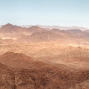 View of mountains in the desert.