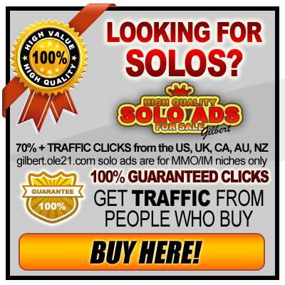 Looking for solo ads? Go to gilbert.ole21.com to buy high quality solo ads