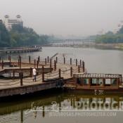 Vista del Río Bailanghe en Weifang