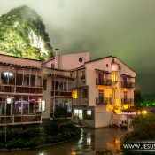 Yangshuo, China de noche. Foto tomada por Jesús Rosas.