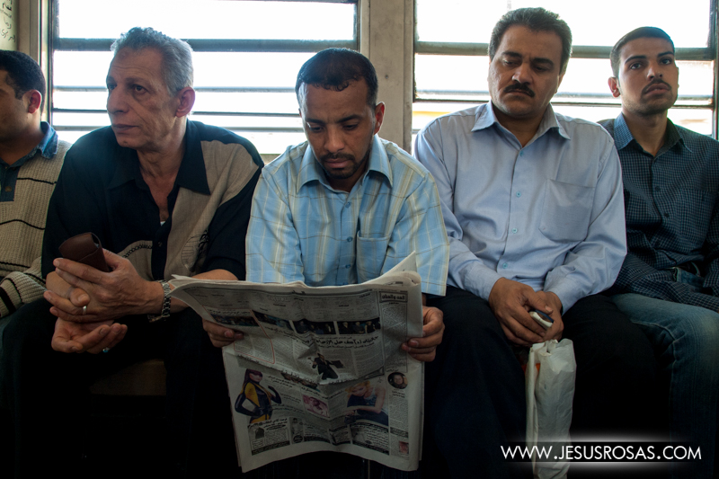 Subway ride. Cairo, Egypt. 2009.