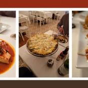 Comida en Veracruz, pescado a la veracruzana, pizza, queso al tamarindo