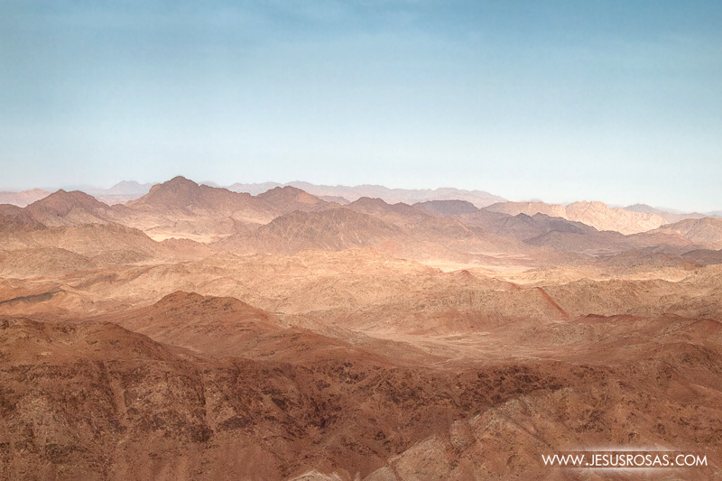 View from Mount Sinai, in the Sinai Peninsula, Egypt.