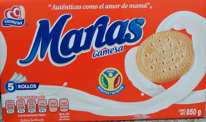 Marie Cookies. Galletas Marías marca gamesa