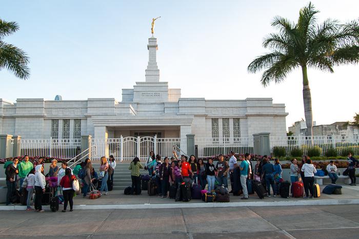Salida del Templo
