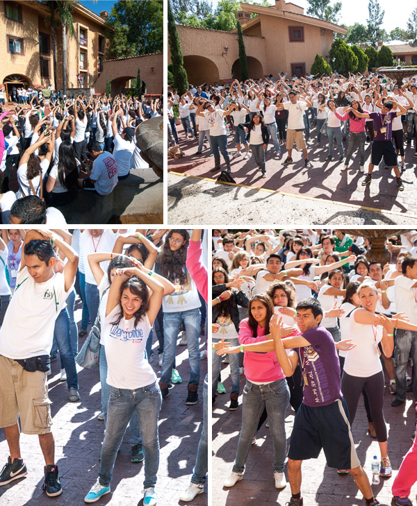 Warm up for the color run/race - La carrera del color