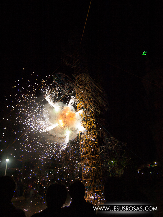 The castillo (wooden frame with fireworks) was one of the shows that attracted many people to the atrium of the church in Cajititlan, Tlajomulco, Jalisco, Mexico.