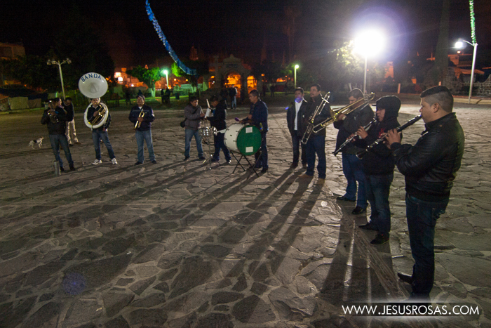"A town musical band playing ""Las Mañanitas"" song in Cajititlan, Tlajomulco, Jalisco, Mexico."