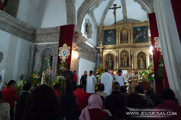 Catholic mass in a small town in Cajititlan, Tlajomulco, Jalisco, Mexico.