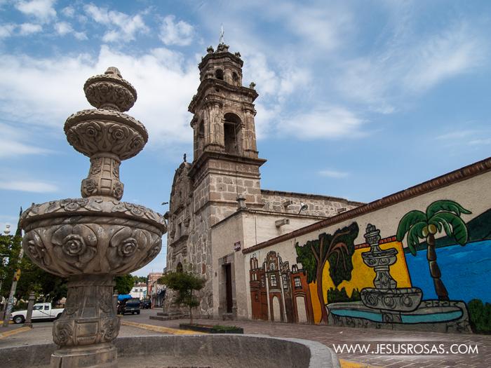 The Santuario de Guadalupe in Cajititlan, Tlajomulco, Jalisco, Mexico.
