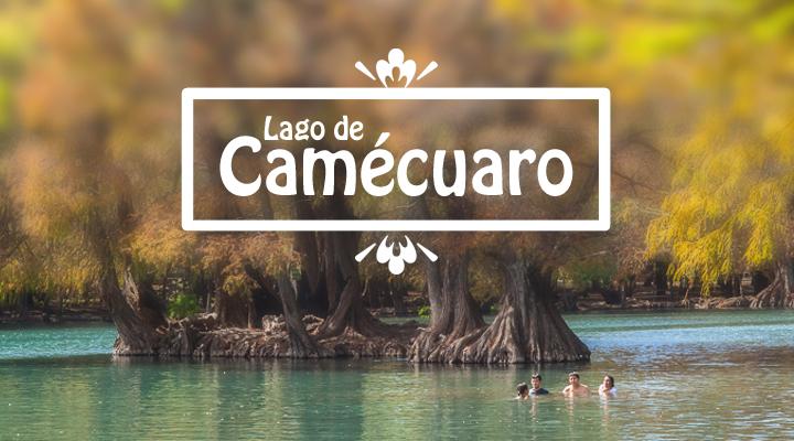 """Imagen del Lago de Camécuaro en El Lago de Camécuaro: """"Lugar del Baño"""""""