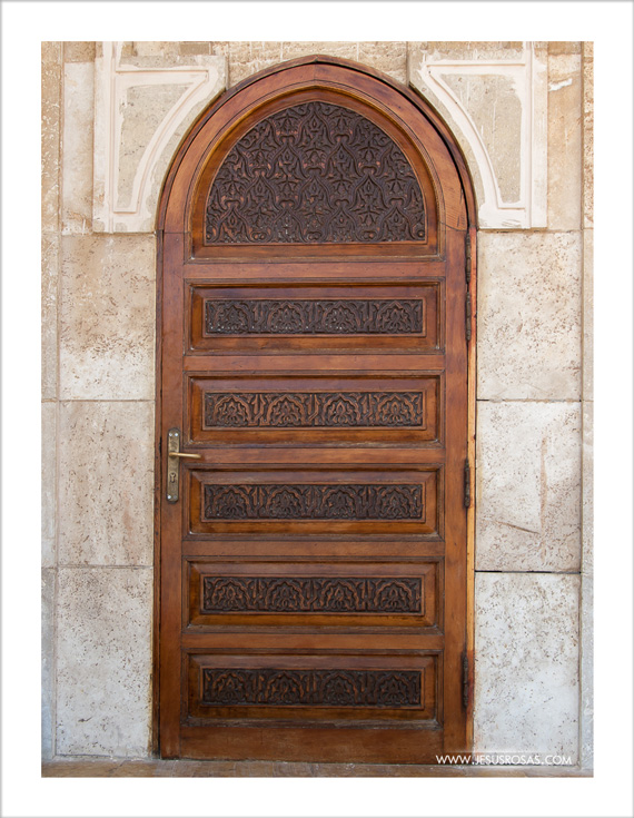 Wooden door with carvings | Puerta de madera con grabados