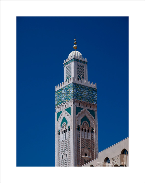 Look at this beautiful top half of the four-side minaret | Miren esta bella mitad superior del minarete de cuatro lados.