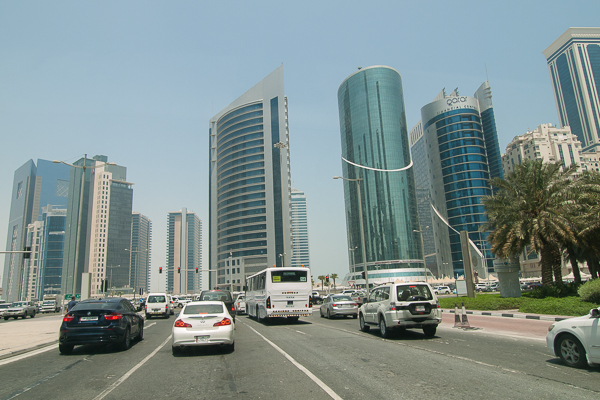 Road with buildings and cars