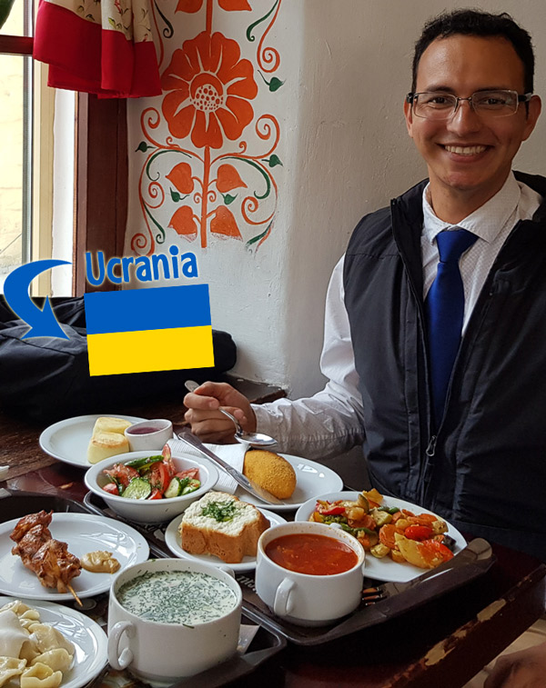 A welcoming meal in the very popular Puzata Hata restaurant chain. Cheap, but good and ready-to-eat food. I ate in this place about three times per week during my one-month stay in Ukraine.