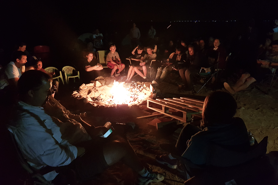 My spiritual life included regular Sunday Church meetings, but we also had extra activities, such as camping in the beach where we ate, sang, and had an uplifting message from our bishop around the fire.