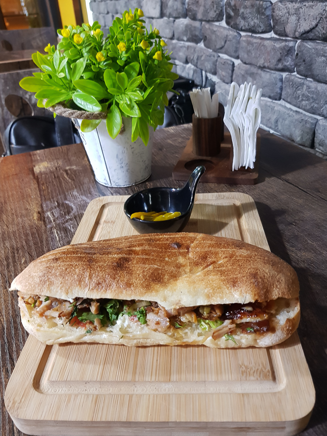 Here is the doner kebab sandwich. This is probably the most common dish you can find in Baku. If you go to a food street and see a couple of restaurants, you will definitely find doner. They are very popular. You can find them from hidden streets to shopping malls and upscale restaurants.