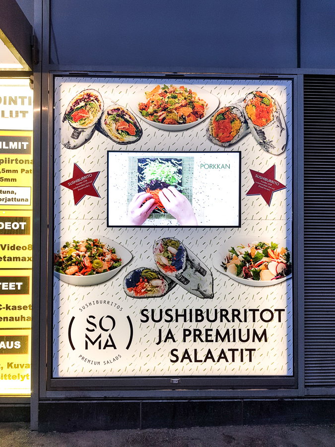 And of course, regional cuisines evolve around the world. Here's a Finish venu merging sushi with burritos. I cringed inside of me, lol. I still wanted to try, unfortunately, I discovered this place too late. Check the menu in the webiste https://www.ravintolasoma.fi/en/ to see the dishes, their ingredients, and names.