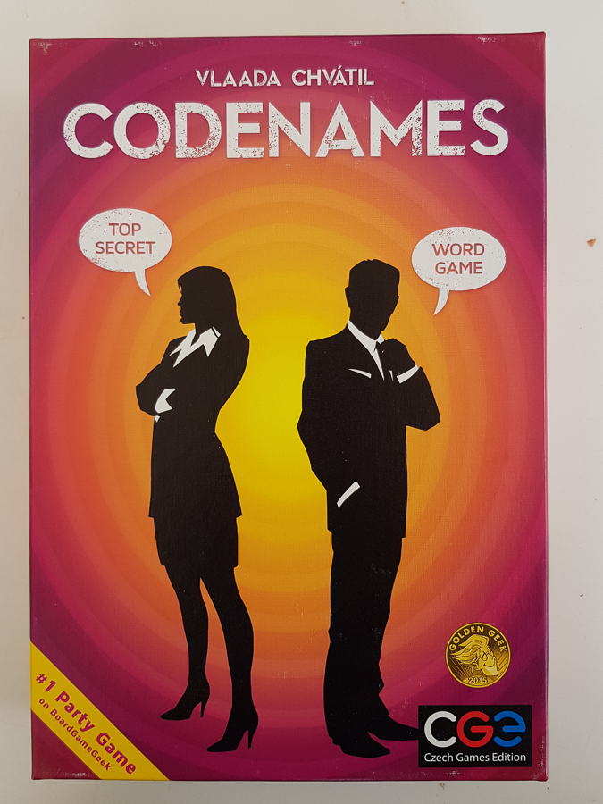 Picture shows Codenames boardgame by Vlaada Chvatil