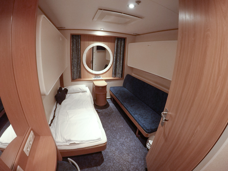 A quick view of my cabin from Turku, Finland to Stockholm, Sweden. Nice and clean with WiFi, its own shower and toilet. I remember being tired and wishing the trip would be longer so I could sleep more.