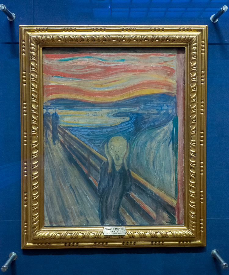My visit in Oslo had to include a visit to the Munch Museum to see The Scream by Edvard Munch.