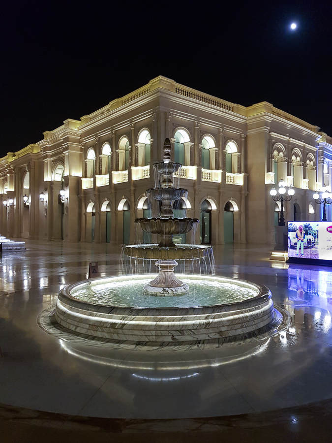 During my layover, I went out at night to Al Hazm Shopping Mall. A truly luxurious place. Not a surprise in Qatar.